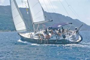 Segeln auf Korfu auf der Segelyacht Felicita. Eine Sun Odysses 54DS